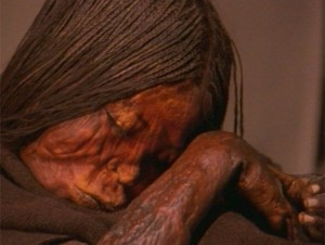 A mummified Incan female sacrificed to the gods.